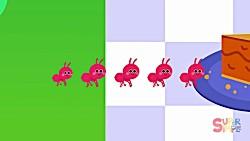 آموزش اعداد 1 تا 10 + خوراکی ها (The Ants Go Marching #2)