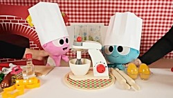 Pretend Play Cooking Pizza - Learn Fruits Vegetables