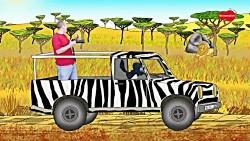 Steve and Maggie Racing through a Wild Animal Safari