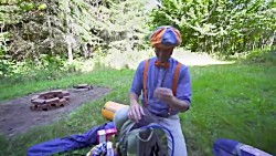 Blippi Visits A Camp Site - Learning How To Camp