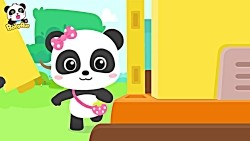 Baby Panda Pretend Play Driving Bus